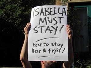 Isabella Acevedo protest