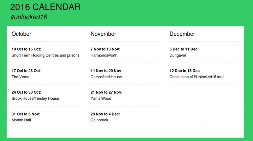 Unlocked calendar