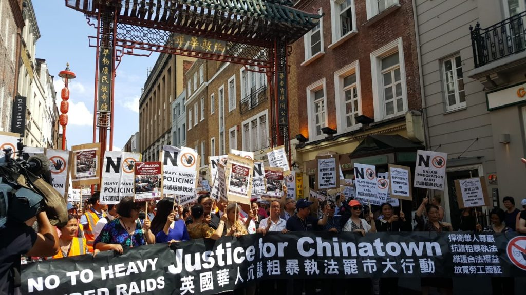 Chinatown protest